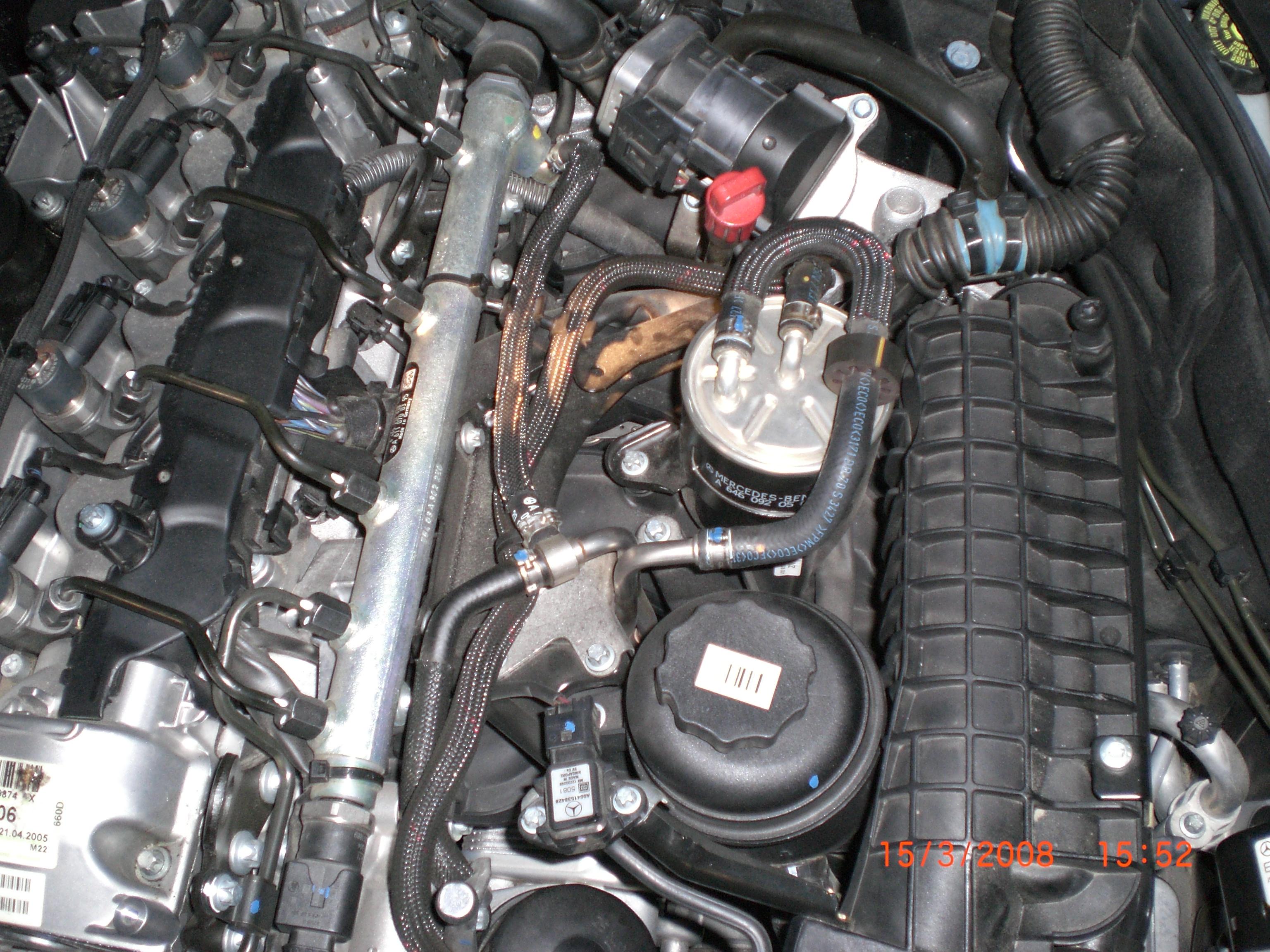 Changement Filtre 224 Gazoil Sur Mercedes R 233 Paration