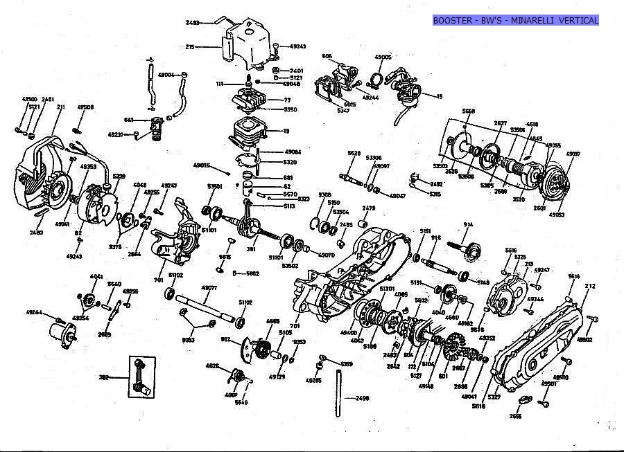 Recherche de vue clat de variateur boosteur scooter et - Vue eclatee moteur ...