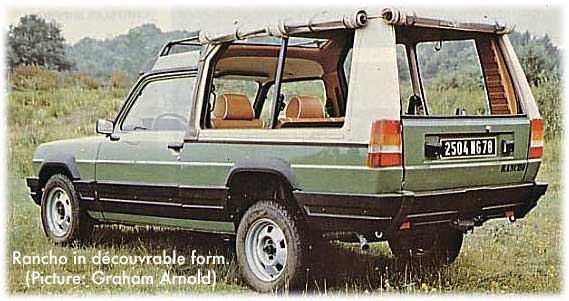 Talbot matra rancho voitures anciennes et de collection for Rancho motors used cars