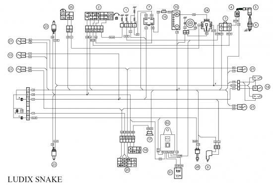 Identification Cable Faiseau Electrique Ludix - Scooter Et Mobylette