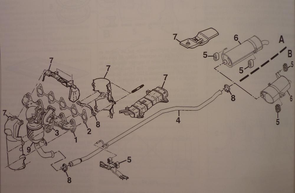 peugeot 206 remplacement tuyau d 39 chappement reportage photo et description des r parations. Black Bedroom Furniture Sets. Home Design Ideas