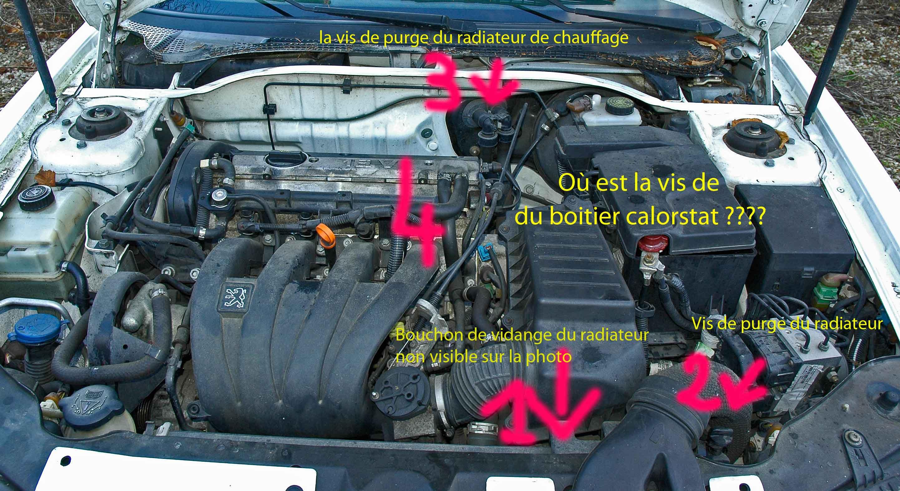 Purge circuit refroidissement reportage photo et for Purge de radiateur de chauffage